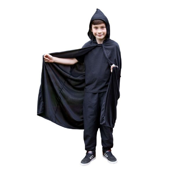 Childs Hooded Cape - Black